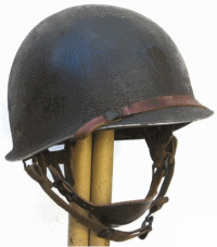 Us ww2 le casque us m1 the us m1 helmet ouest collection casque m 1c pour parachutistes attaches mobiles vue de dessus thecheapjerseys Images